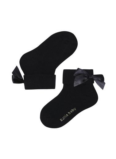 Katia & Bony Newyork Fiyonklu Bebek Soket2'Li  Siyah